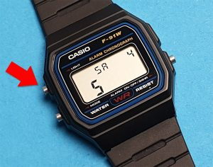 Casio F-91W, A158, A168 Datum einstellen