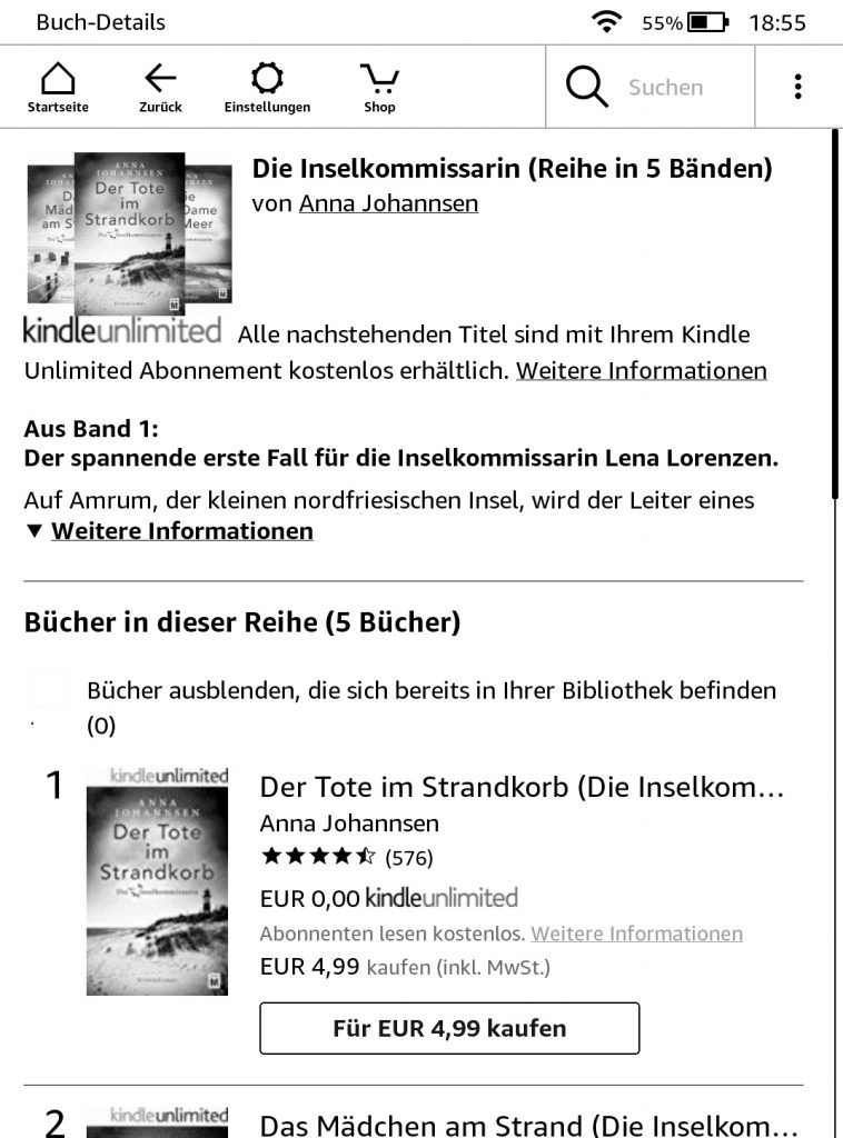 Kindle Paperwhite mit Spezialangebot Amazon Shop