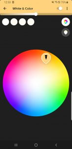 Philips Hue White Color Ambiance Einstellung 2 App